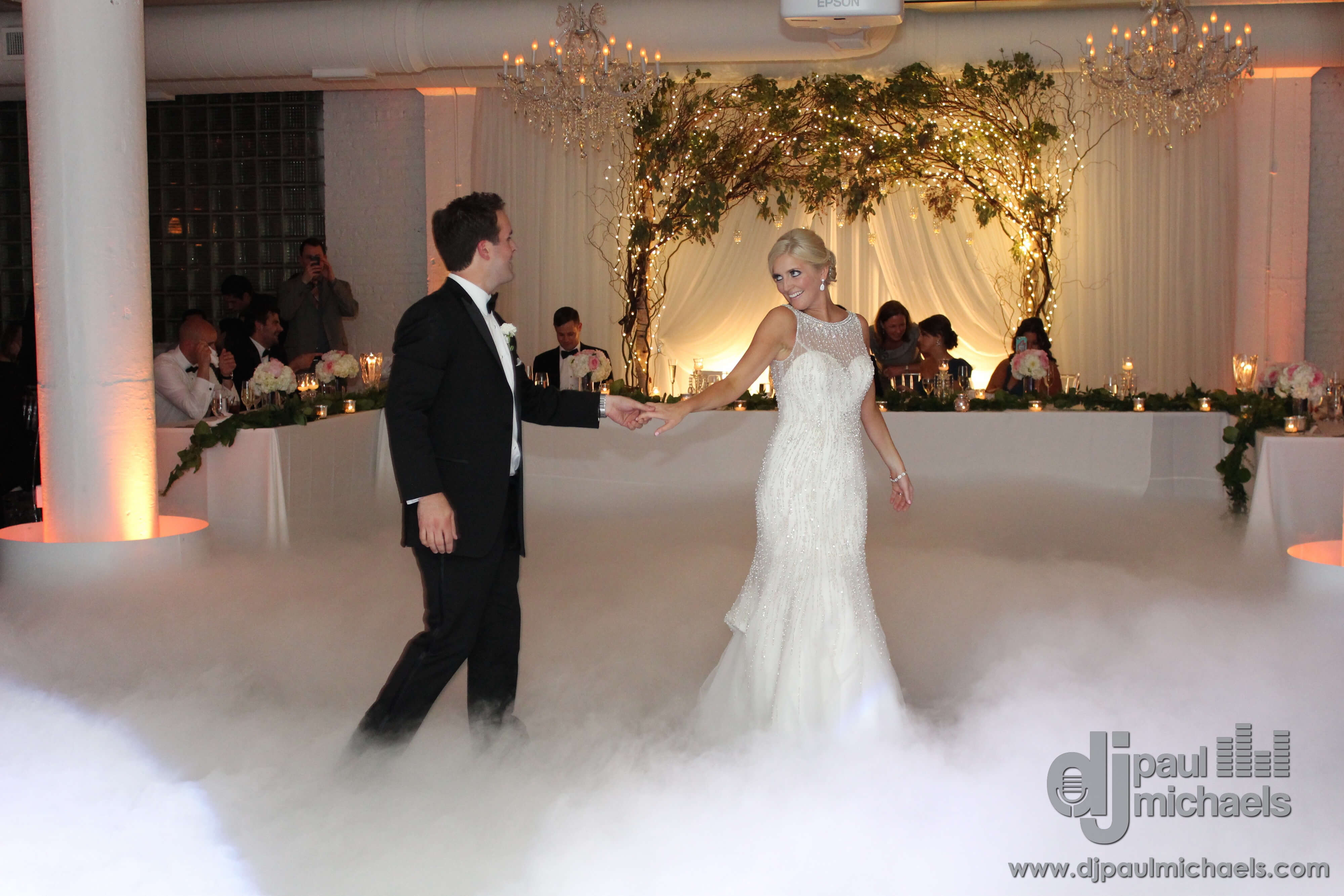 Heidi and Adam dancing on the Clouds