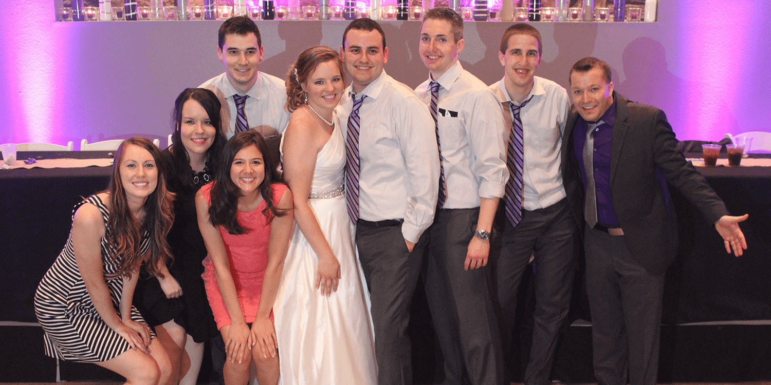 Shelbyville Wedding DJ with Group