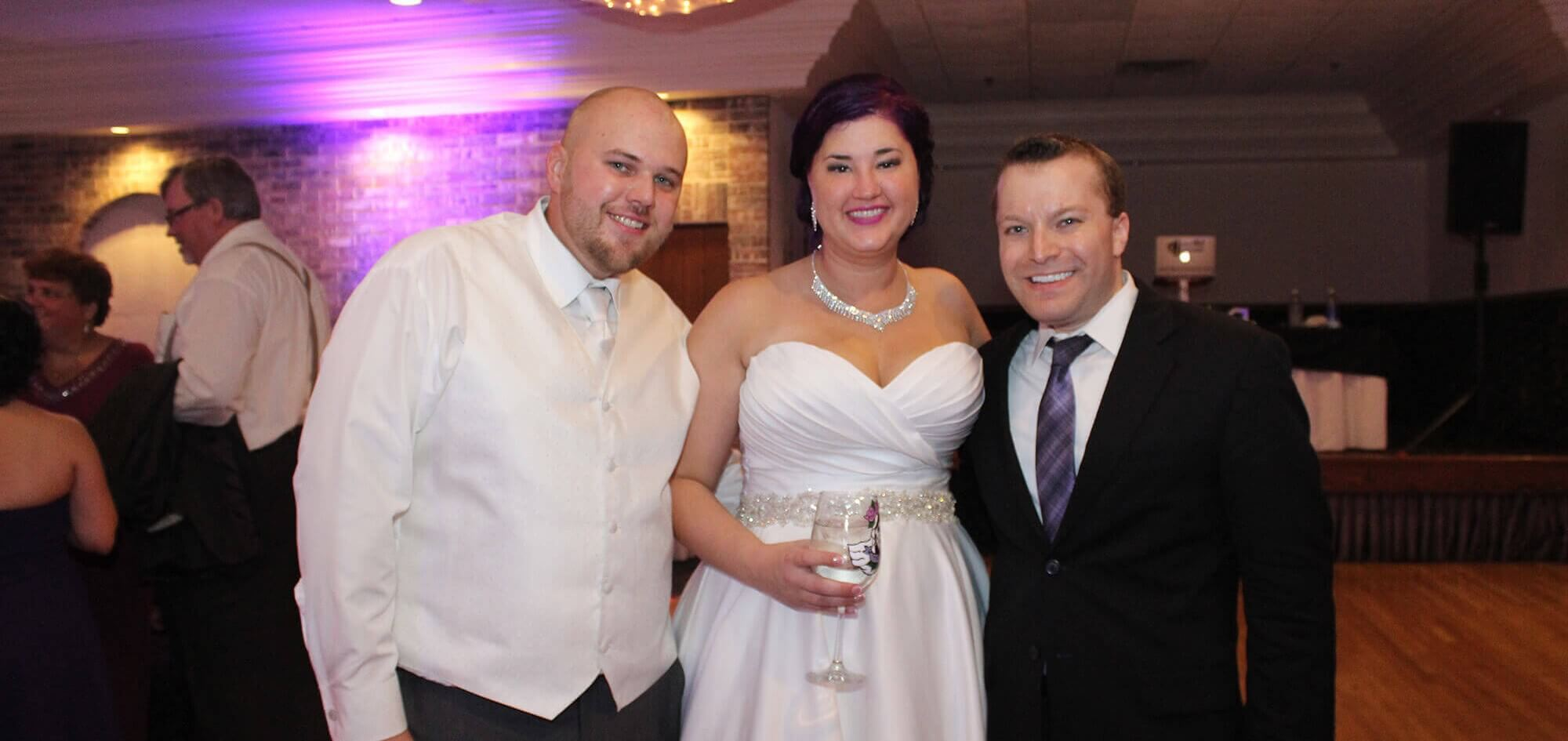 Royalty West Banquet Willow Springs Wedding DJ with Couple