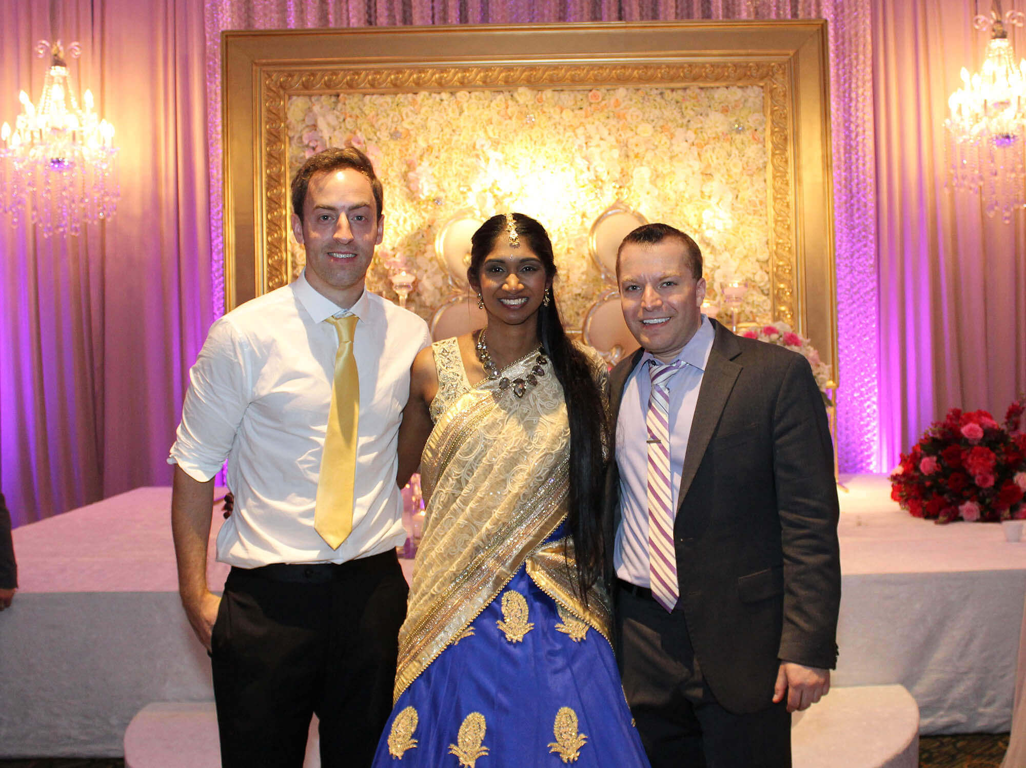 Asha, Dustin, and Paul together after the wedding