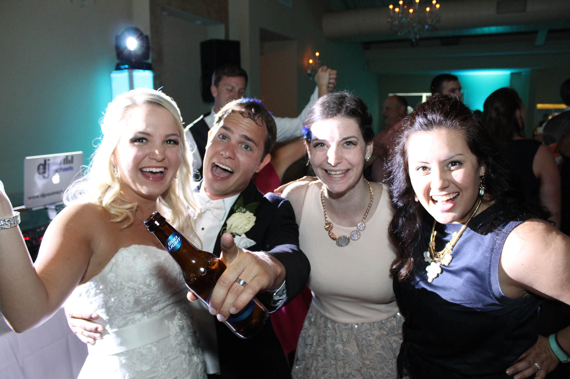 Wedding Guests Partying with Bride and Groom at Meson Sabika in Naperville Blog Cover