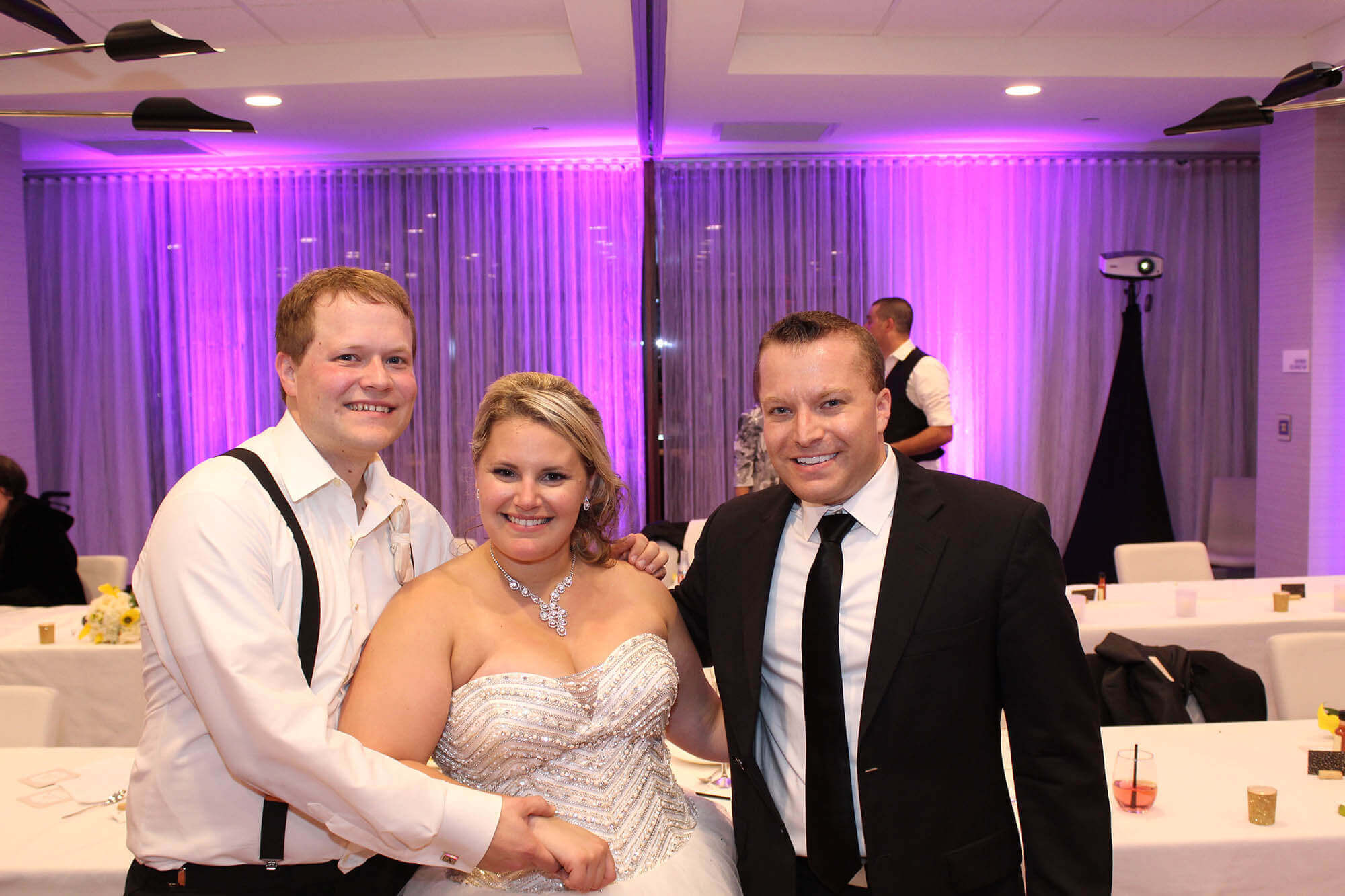 Bride and Groom with DJ Paul Le Meridien Oak Brook Blog Cover