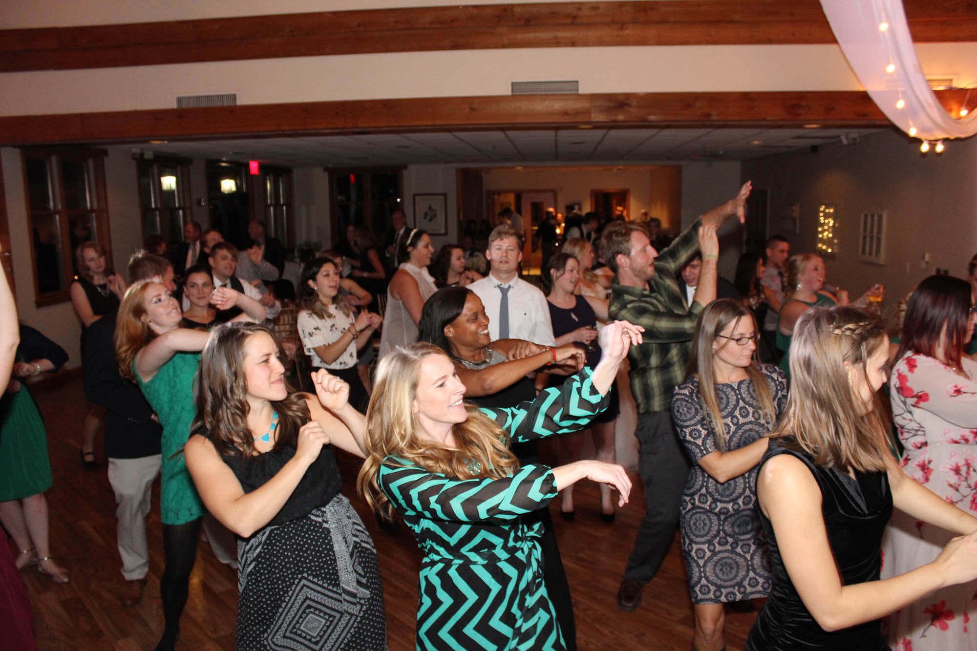 Wedding Guests Dancing at Thunderhawk Golf Club Beach Park IL Wedding