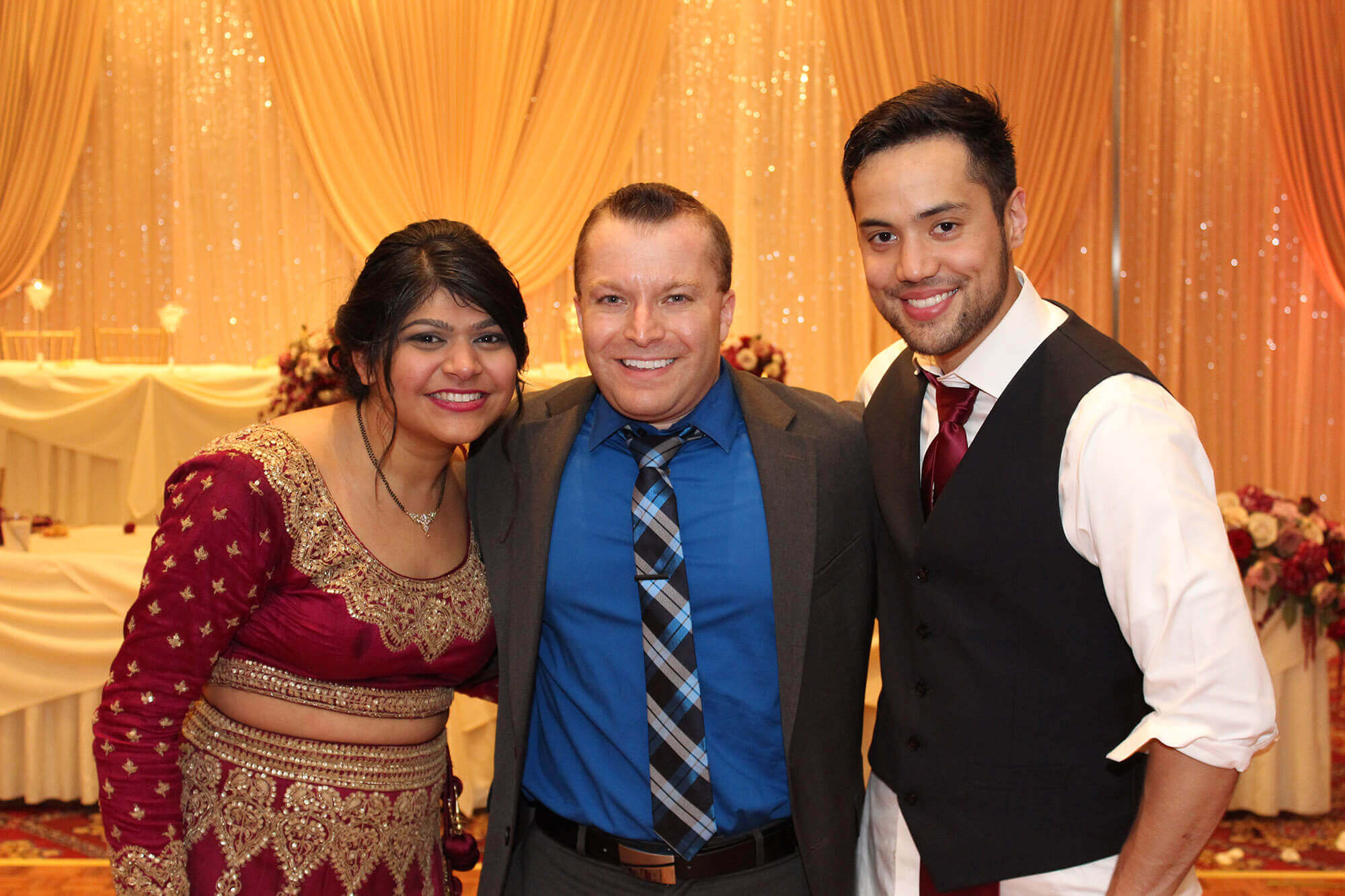 DJ Paul with Indian Wedding Couple at Bolingbrook Golf Club