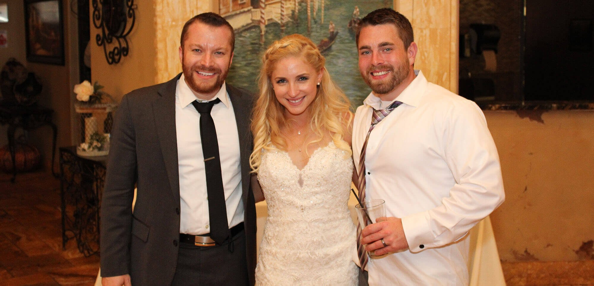 Wedding DJ with Couple at Acquaviva Winery in Maple Park IL