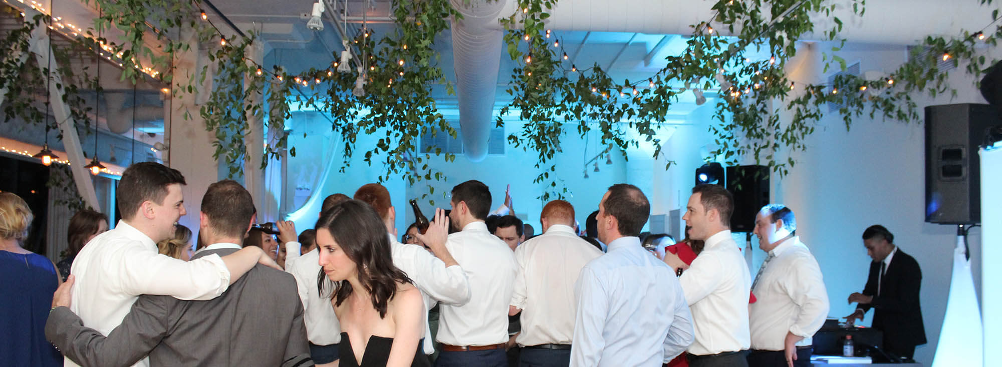 wedding with uplighting rentals at downtown chicago greenhouse loft