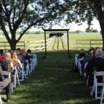 farm wedding ceremony enterainers at northfork farm in oswego