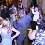 Guests dancing at a wedding reception