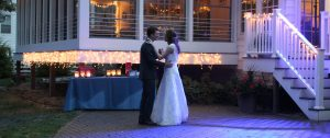 bride and groom dancing at wedding in grand beach michigan