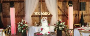 Mr and Mrs sign at Wedding
