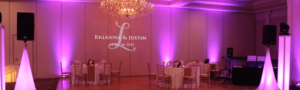 Beautiful wedding monogram at abbington glen ellyn banquet hall
